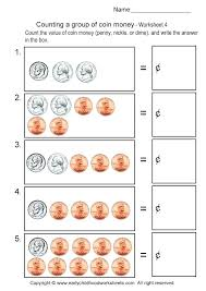 Math Money Worksheets Grade 1 Counting Money Worksheet On Pennies ...