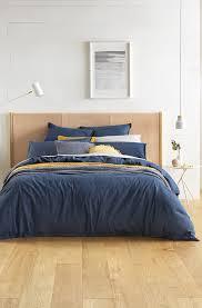 sheridan anders denim blue duvet cover set