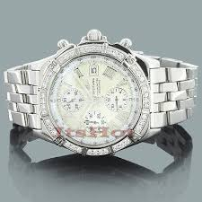 diamond breitling watch luxury mens watches 2 8ct custom diamond breitling watch luxury mens watches 2 8ct