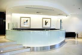 glass reception desk stunning glass reception desk reception desk that blends in however it is also glass reception desk
