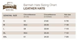 Well Head Size Chart Australian Hats The Squashy Bronco Hat By Barmah