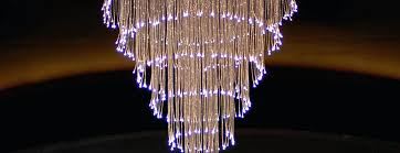 fiber optic chandeliers fiber optic chandelier in the rendezvous fibre optic chandeliers uk