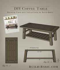 Build a DIY Coffee Table - Building Plans by @BuildBasic www.build-basic