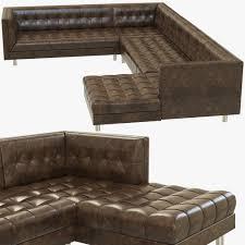 bernhardt dunhill sectional sofa 3d model