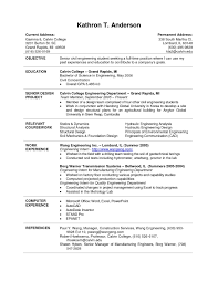 Engineering College Student Resume Examples Civil Engineering College Student Resume Examples Template's 1