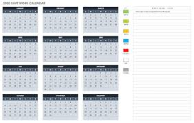Vacation Calendar Templates Employee Vacation Calendar Template 2020 Printable Free