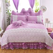 girls bedding sets white lace ruffle duvet cover
