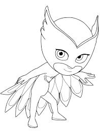 Pj Mask Coloring Pages Owlette K5 Worksheets