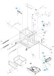 1x500 sheet paper feeder with cabi ponents