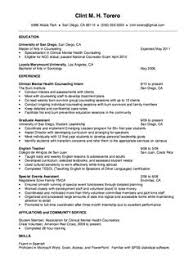 Best Ideas of Sample Resume Mental Health Counselor About Cover