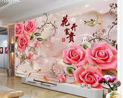 Aliexpresscom Koop Beibehang Mooie Behang Bloemen Rijke Jade