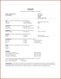 Resume Formats Examples Beautiful Actor Resume format npfg online 37