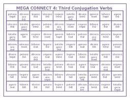 Latin 3rd Conjugation Chart Third Conjugation Latin Verbs Mega Connect 4 Game