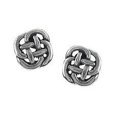 Silver <b>Knot Fashion Earrings</b> for sale | eBay