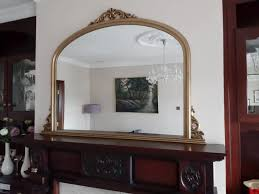 large mirror for mantlepiece for
