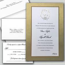 Invitations Formal Black Tie Wedding Invitations