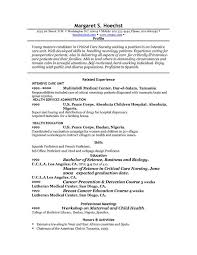 Example Resume Profile Statement Good Resume Profile Examples And