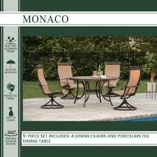 hanover monaco 5 piece patio outdoor