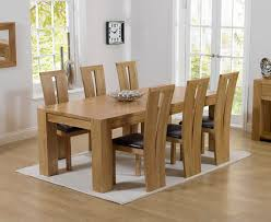 extending solid oak dining table 6 chairs. charming chunky solid oak dining table and 6 chairs 52 for room sets with extending u