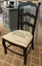 reclaimed french country ladderback ladder back accent burlap chair mix n match with our other black burlap chairs