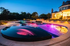 Pool lighting design Pool Area Designrulz Stradivarius Pool Made Out Of Love For The Violin