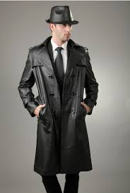 2016 new arrivals men s genuine cow leather trench coat long design garment popular and handsome natural leather outerwear l 4xl in faux leather coats from
