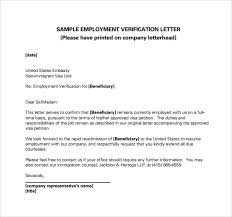 Employment Verification Letter 14 Download Free Documents In Pdf In