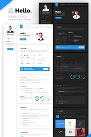Hello Resume Cv Vcard Portfolio Html Template Website Template
