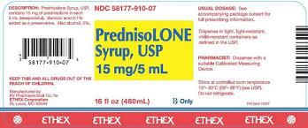 Prednisolone Syrup Usp15 Mg 5 Ml