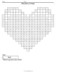 Rounding Coloring Sheet Pixel Art Coloring Sheets Emoji Squared As