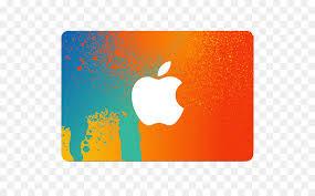 gift card itunes apple orange yellow png