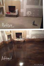 Basement AlmostBehr Concrete Stain Golden Desert And - Ununfinished basement before and after