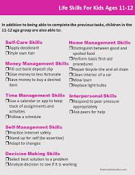 life skills checklists for kids and teens to be children and these life skills checklists can help you figure out how prepared your child is to be
