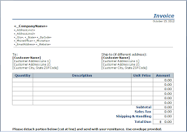 Invoice Schedule Template Stub Invoice Template Blue Layouts
