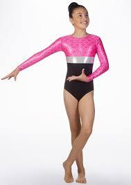 alegra s hydra long sleeve gymnastics leotard 32 40