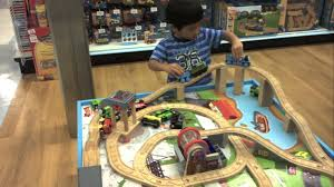 thomas the train wooden railway table playset toys r us you