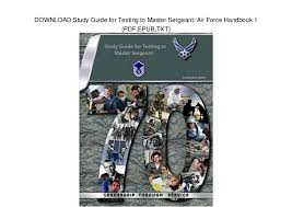 Air Force Mkts Chart 2017 Download Study Guide For Testing To Master Sergeant Air