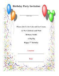 birthday party invitation templates com birthday party invitation templates for party invitations inspiration design 19