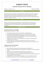 Assistant Customer Service Manager Resume Samples Qwikresume