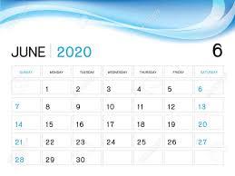 Planner 2020 Template June 2020 Year Template Calendar 2020 Vector Desk Calendar