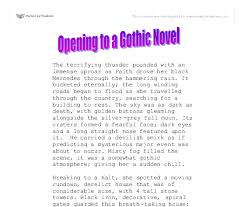 opening to a gothic novel gcse english marked by teachers com document image preview