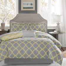 gray and yellow bedding. Beautiful Yellow Madison Park Essentials Concord Grey Yellow Reversible Complete Comforter  And Cotton Sheet Set On Gray And Bedding I