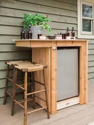 diy outdoor bar. Plain Diy DIY Outdoor Fridge Bar With Diy