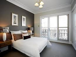 master bedroom feature wall: beige bedroom design idea from a real australian home bedroom photo