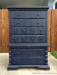 distressed blue furniture. After - All New Knobs, Navy Blue Paint, And Distressed. Distressed Furniture S