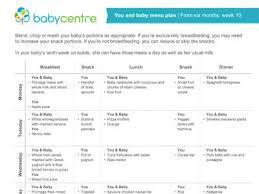 Babies Menu Planner Mum And Baby Recipes Week 10 Babycentre Uk