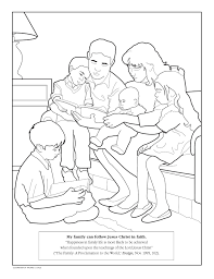 Small Picture family coloring page LDS Lesson Ideas
