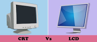 Difference Between Crt And Lcd Comparison Chart Tech