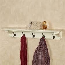 wyndham wall shelf with hooks whitewash 36 wide