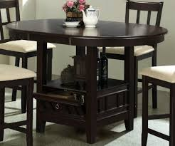 wonderfull design dining room sets with storage com counter height dining table with storage base dark
